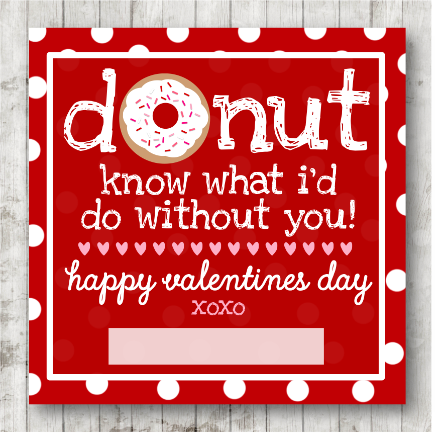 It is a picture of Genius Donut Valentine Printable