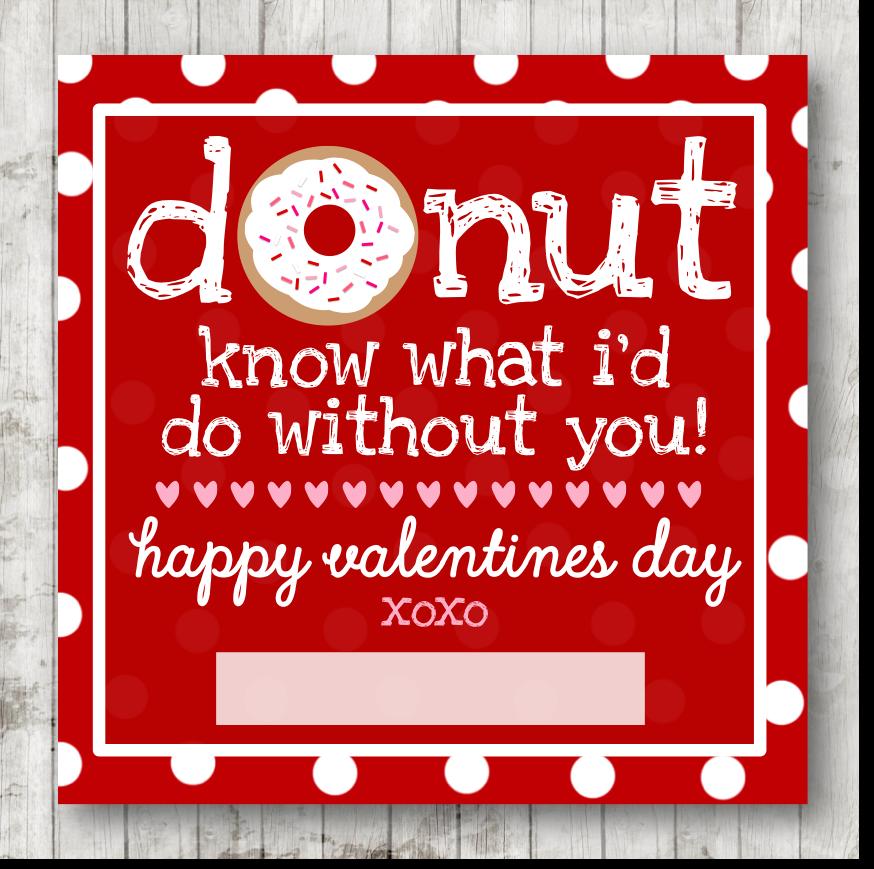 graphic regarding Donut Valentine Printable known as Valentine Printable ;)